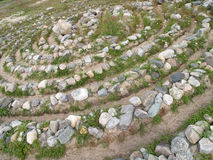 Stone labyrinth on the Big Solovki island, Russia Royalty Free Stock Photography
