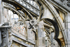 Stone lace Milan Cathedral Stock Image