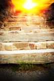 The stone ladder Royalty Free Stock Image