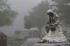 Stone Lady in the Mist Stock Photography