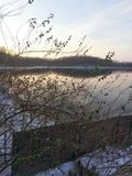 Stone Lake in Cassopolis Michigan in the Winter Stock Photography