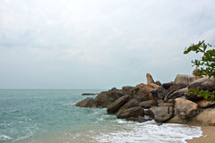 Stone Lamai beach rocks,Hin Ta Hin Yai Royalty Free Stock Photography