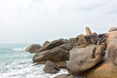 Stone Lamai beach rocks,Hin Ta Hin Yai Stock Photography