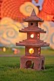 Stone lamp. Lamp outdoor in garden Stock Images