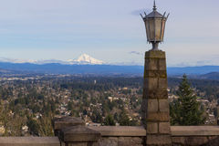 Stone Lamp Post at Rocky Butte Stock Images