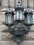 Stone Lamps Stock Photography