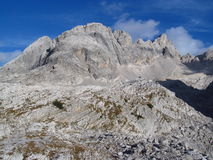Stone landscape in the Alps mountains, Marmarole, rocky peaks Stock Images