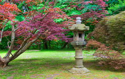Stone Lantern. In a Japanese stroll garden Royalty Free Stock Image
