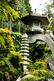 Stone Lantern in a Beautiful Garden at Monte above Funchal Madeira. This wonderful garden is at the top of the cablecar from the seafront in Funchal. It is Stock Images