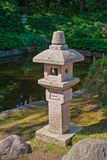 Stone lantern in garden Stock Image