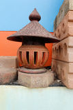 Stone lantern on  garden. Stone lantern on thailand garden Stock Photo