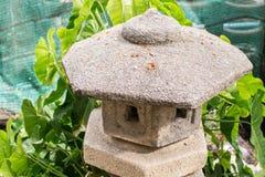 Stone lantern of Japan stock photos