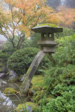 Stone Lantern in Japanese Garden Stock Photos