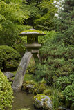 Stone Lantern at Japanese Garden 4. Stone Lantern at Portland Japanese Garden Lit at Dawn 4 royalty free stock photo