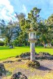 Stone Lantern in Japanese Garden Stock Image