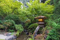 Stone Lantern at Japanese Garden Royalty Free Stock Photography