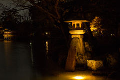 Stone Lantern Of The Kenrokuen Garden Royalty Free Stock Photos
