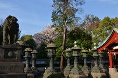 Stone lantern of  Ueno Toshogu Shrine at Ueno park Stock Photography