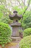Stone lantern in Zojo-ji Temple, Tokyo, Japan Stock Photo