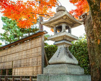 Stone lanterna at Fushimi Inari-taisha shrine in Kyoto Stock Image