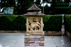 Stone lanterns in the garden. stock images