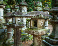 Stone Lanterns at Kasuga Taisha in Nara Royalty Free Stock Photos