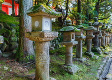 Stone Lanterns at Kasuga Taisha in Nara Royalty Free Stock Photography