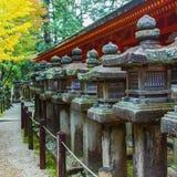 Stone Lanterns at Kasuga Taisha in Nara Royalty Free Stock Image