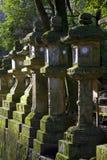 Stone lanterns Kasuga Taisha Shrine Nara Japan. Stone Lanterns with moss on them in Kasuga Taisha Shrine, Nara, Japan Stock Image