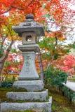 Stone Lanterns at Kinkaku-ji Temple in Kyoto Royalty Free Stock Image