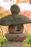 A Stone lanterns in kyoto Royalty Free Stock Photography