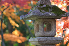 A Stone lanterns in kyoto Royalty Free Stock Image
