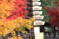 A Stone lanterns in kyoto Stock Photos