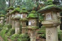 Stone lanterns in Nara Stock Image