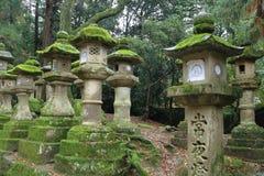 Stone lanterns in Nara Royalty Free Stock Photo