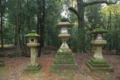 Stone lanterns in Nara Royalty Free Stock Photography