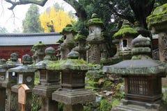 Stone lanterns in Nara Royalty Free Stock Image