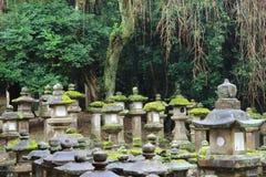 Stone lanterns in Nara Stock Photography