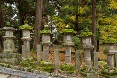 Stone lanterns in Nara, Japan royalty free stock photo