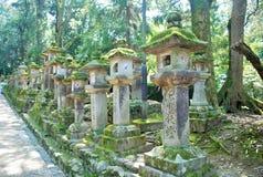Stone Lanterns in Nara, Japan Royalty Free Stock Images