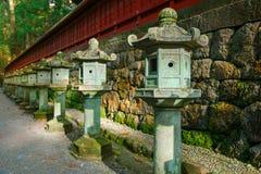 Stone Lanterns on the Side of Nikko Toshogu Shrine Stock Image