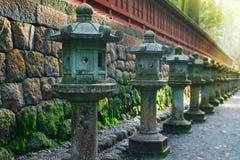 Stone Lanterns on the Side of Toshogu Shrine in Nikko, Japan Stock Images