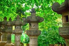 Stone lanterns in Ueno Park, Tokyo, Japan Stock Image