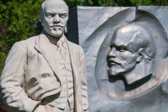 Stone Lenin and iron Lenin Royalty Free Stock Photos