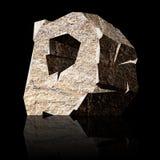 Stone letter D Stock Photos