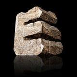 Stone letter E Stock Images