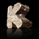 Stone letter K Stock Photography