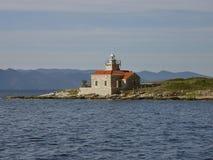 Stone lighthouse Stock Photo