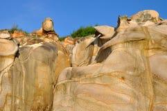 Stone like human head and face Stock Photo