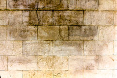Stone limestone block wall of old building Royalty Free Stock Photos